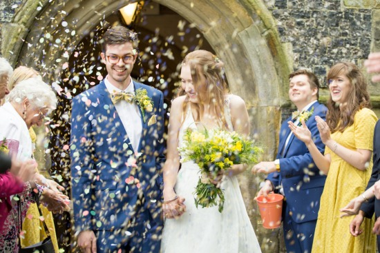 Alice & Sam - Holy Trinity Church & Rushfields Garden Centre, Poynings
